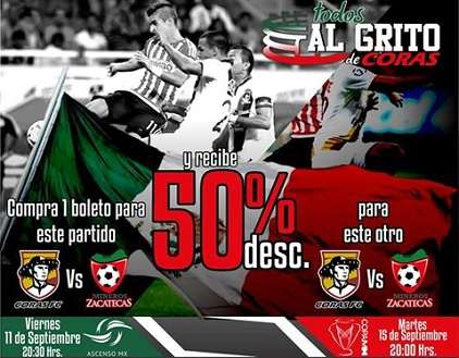 Coras de Tepic vs Mineros de Zacatecas