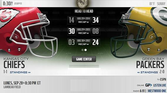 Kansas City Chiefs vs Green Bay Packers