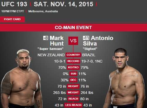 Mark Hunt vs Antonio Bigfoot Silva
