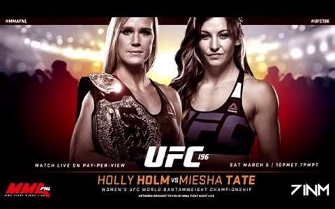 Holly Holm vs Miesha Tate