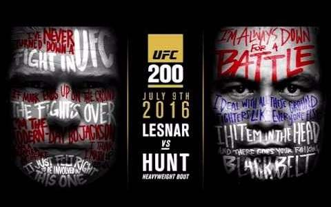 UFC 200 Brock Lesnar vs Mark Hunt