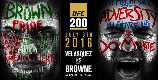 UFC 200 Caín Velásquez vs Travis Browne