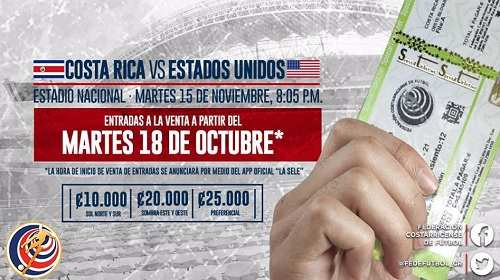 Costa Rica vs Estados Unidos
