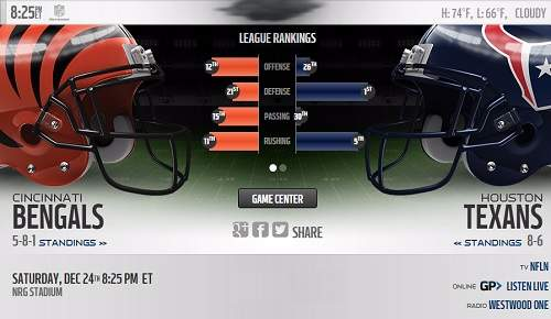 Cincinnati Bengals vs Houston Texans