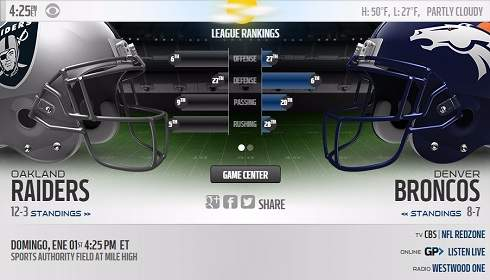 Oakland Raiders vs Denver Broncos