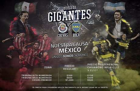 Chivas vs Boca Juniors