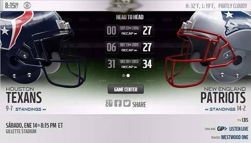 Houston Texans vs New England Patriots