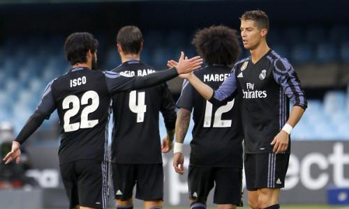 Real Madrid vence 4-1 Celta