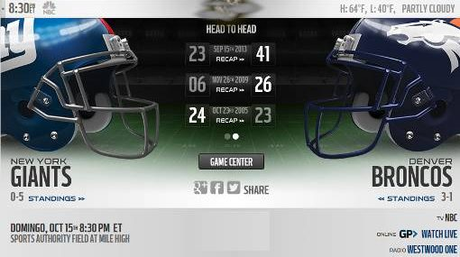Resultado: Denver Broncos vs NY Giants [Vídeo Resumen] ver Semana 6 NFL 2017