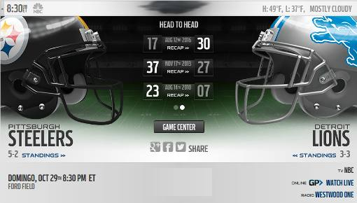 Detroit Lions vs Pittsburgh Steelers