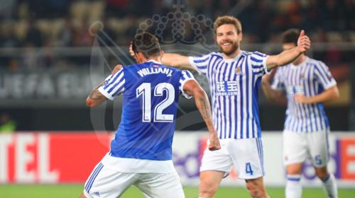 Real Sociedad golea 6-0 al Vardar con poker de Willian José en la Europa League 2017-18
