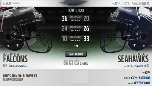 Seattle Seahawks vs Atlanta Falcons
