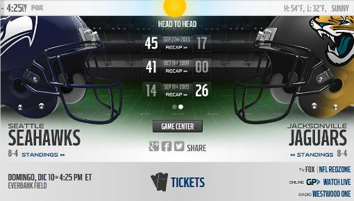 Jacksonville Jaguars vs Seattle Seahawks