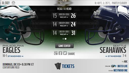 Seattle Seahawks vs Philadelphia Eagles