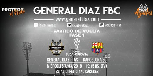 General Díaz vs Barcelona