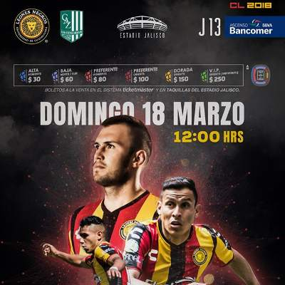 Leones Negros vs Zacatepec
