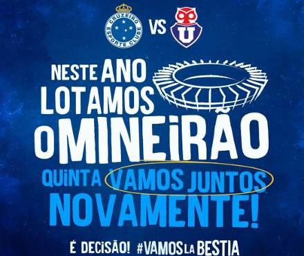 Cruzeiro vs U. de Chile