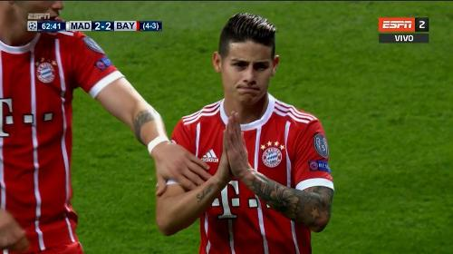 Repetición Gol James Rodríguez Real Madrid vs Bayern Múnich 2-2