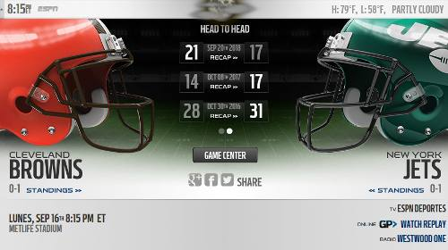 Resultado: New York Jets vs Cleveland Browns [Vídeo Resumen] ver Semana 2 NFL 2019