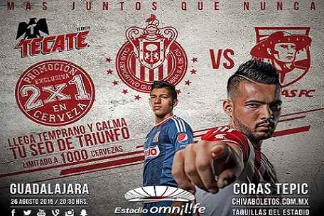 Chivas vs Coras de Tepic