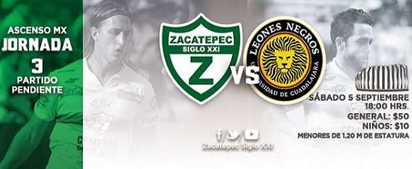 Zacatepec vs Leones Negros