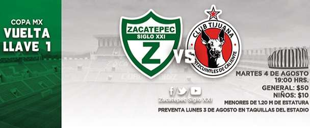 Zacatepec vs Tijuana