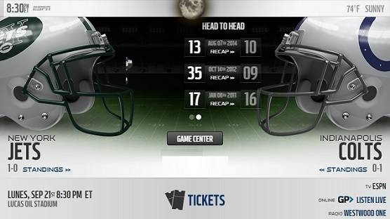 New York Jets vs Indianapolis Colts