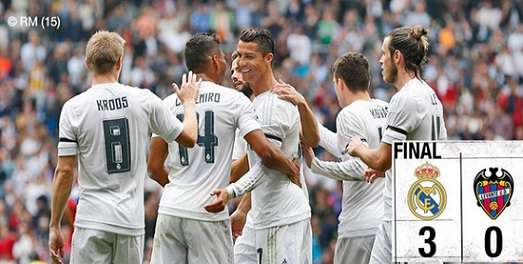 Real Madrid 3-0 Levante
