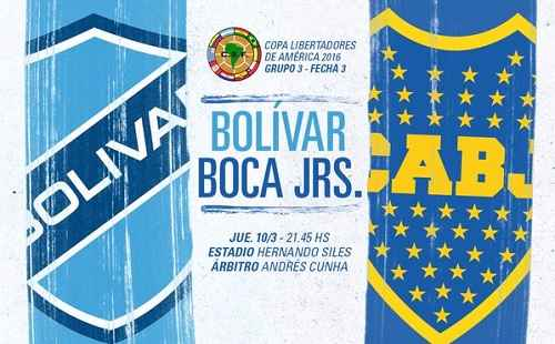 Bolívar vs Boca Juniors