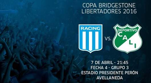 Racing vs Deportivo Cali