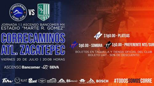 Correcaminos vs Zacatepec