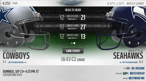 Seattle Seahawks vs Dallas Cowboys EN VIVO Hora, Canal, Dónde ver Semana 3 NFL 2018