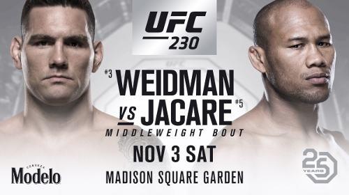 UFC 230 Chris Weidman vs Jacare Souza