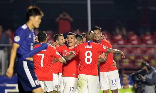 Chile vs Japón 4-0