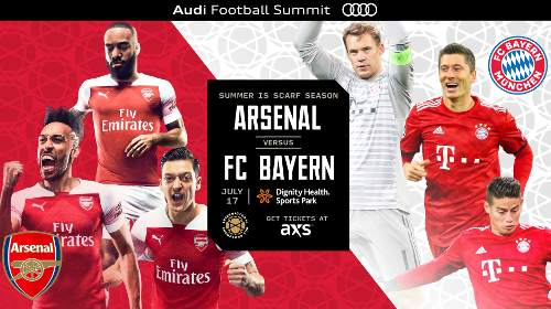 Arsenal vs Bayern Múnich EN VIVO Hora, Canal, Dónde ver International Champions Cup 2019