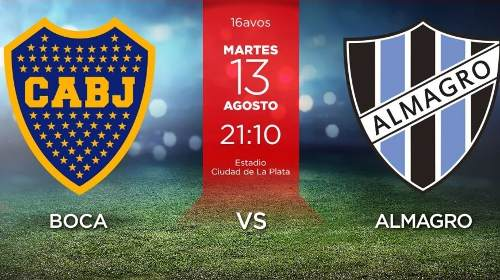 Boca Juniors vs Almagro