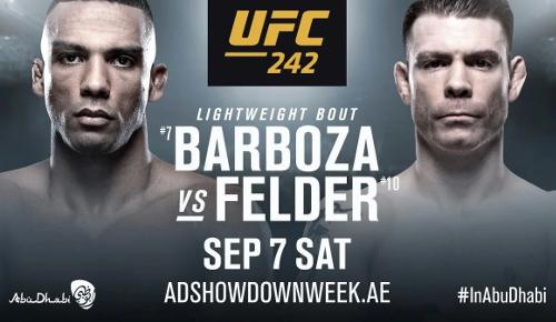 UFC 242 Edson Barboza vs Paul Felder