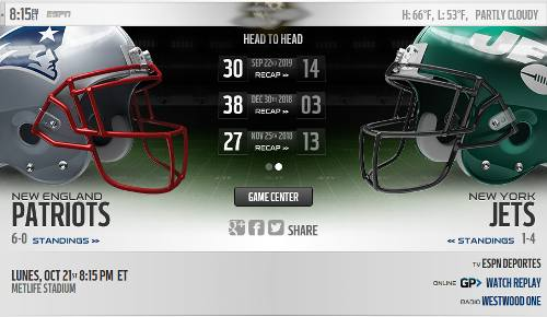 New York Jets vs New England Patriots