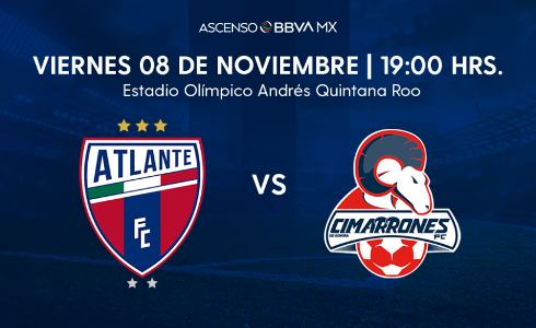 Atlante vs Cimarrones en VIVO