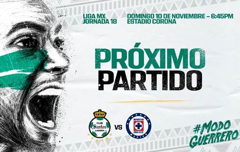 Santos vs Cruz Azul en VIVO