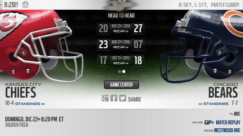 Chicago Bears vs Kansas City Chiefs