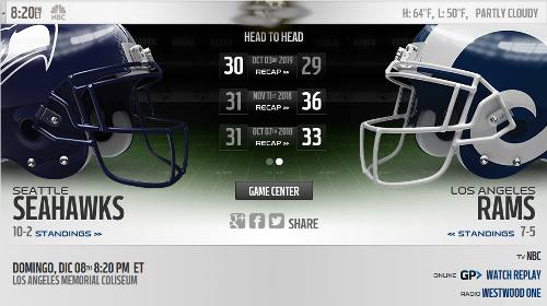 Los Angeles Rams vs Seattle Seahawks