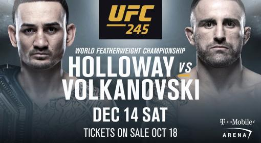 Max Holloway vs Alexander Volkanovski
