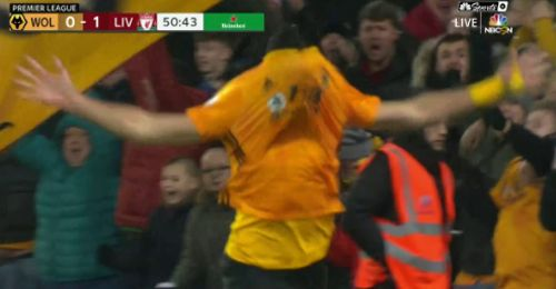 Gol de Raúl Jiménez Wolves vs Liverpool 1-1 Premier League 2019-2020