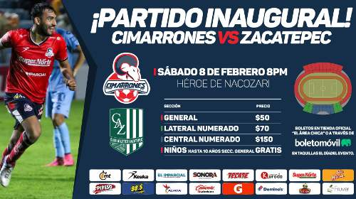 Cimarrones vs Zacatepec
