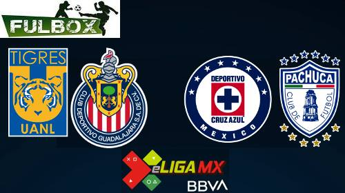 Tigres vs Chivas - Cruz Azul vs Pachuca
