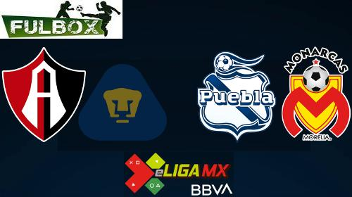 Atlas vs Pumas - Puebla vs Morelia